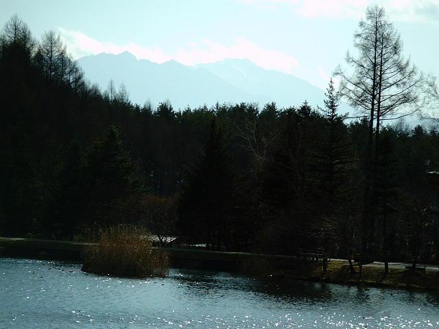 蓼科湖と八ヶ岳♪