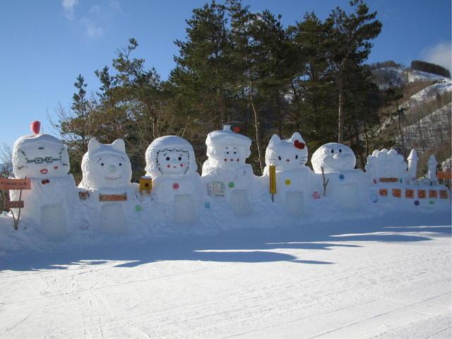 雪だるま(微妙にかまくら?)♪