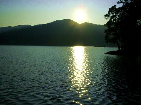 木崎湖の夜明け♪