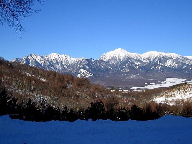 駐車場から見る八ヶ岳っ♪