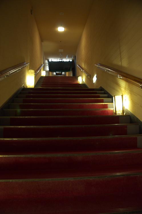 天国風呂への長い階段♪
