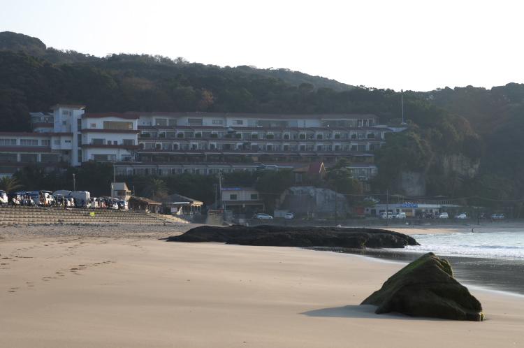ビーチから見た大和館♪