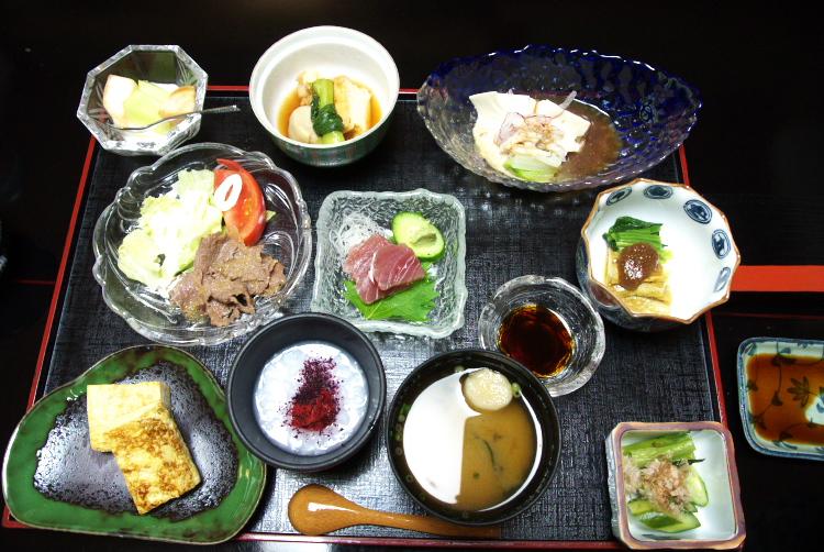 部屋食の和食の朝食♪