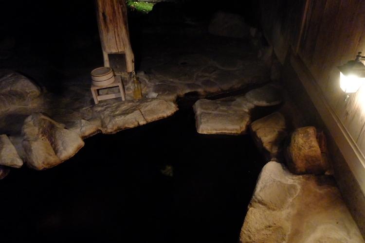 貸切露天風呂(夜の部)♪