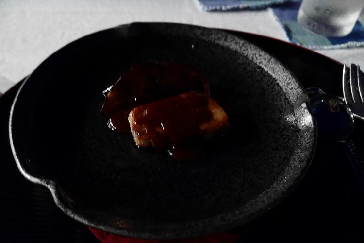フォアグラと茄子の味噌なんとか的なもの♪